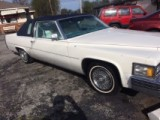 !!! SOLD !!! 1978 Cadillac one owner 92,000 miles cloth top white leather  4995.  wire spokes