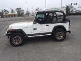 !!! SOLD !!!   93 jeep wrangler 4x4 6 cylinder soft top ca rust free jeep police impound special  4995